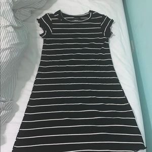 Super cute black and white T-shirt dress
